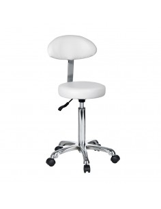 Tabouret rond avec dossier ovale