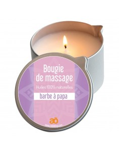 Bougie de massage barbe à papa