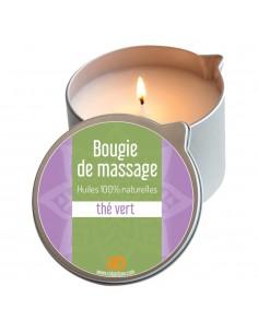 Bougie de massage thé vert