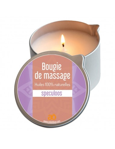 Bougie de massage speculoos
