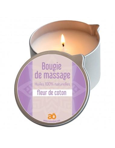 Bougie de massage fleur de coton