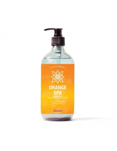 Huile de massage au parfum orange