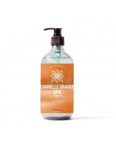 Huile de massage au parfum cannelle orange