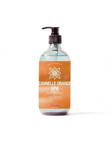 Huile de massage au parfum cannelle orange