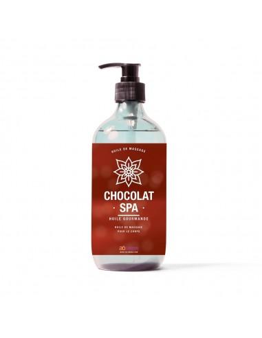 Huile de massage au parfum chocolat