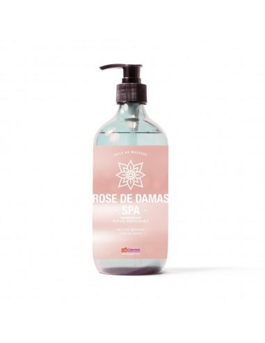 Huile de massage au parfum rose de damas