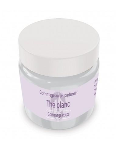 Gommage au sel parfumé Thé blanc - 200 gr - Produit SPA/Massage/Beauté