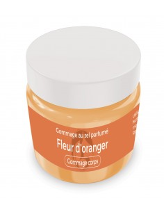 Gommage au sel parfumé Fleur d'oranger - 200 gr - Produit SPA/Massage/Beauté