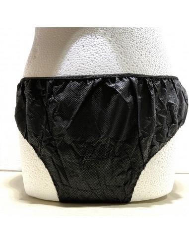Slip noir en version large Qualité 30 g / m² Doublé Spunlace